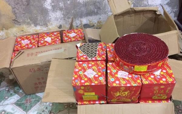 tang vật bị thu giữ tại Trạm CSGT Diễn Châu