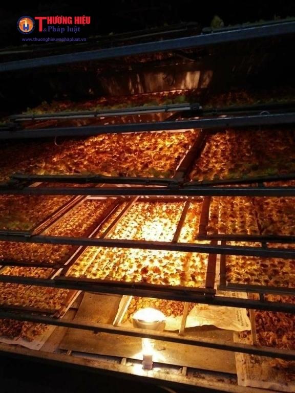 Chè hoa vàng được đưa vào lò sấy để giữ được lâu và nguyên hương vị thơm ngon