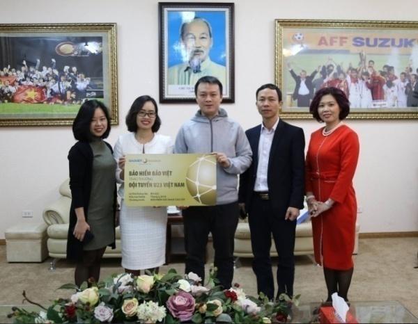 Bảo việt tặng quà U23 Việt Nam