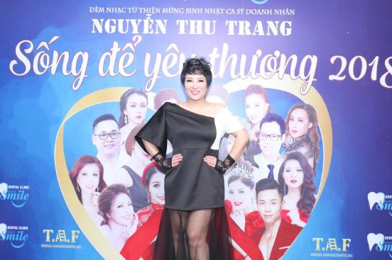 đêm nhạc thiện nguyện, ca sĩ Thu Trang
