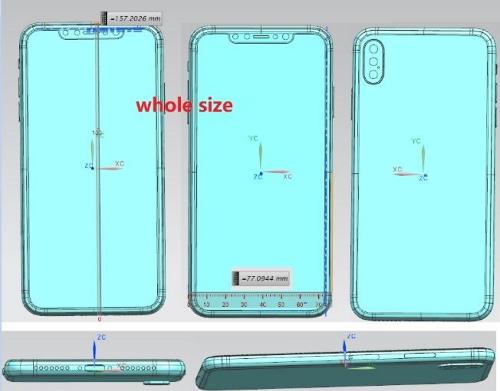 iPhone 2018, lộ thiết kế, 3 camera sau