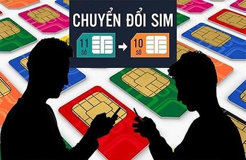 chuyển đổi SIM 11 số về 10 số