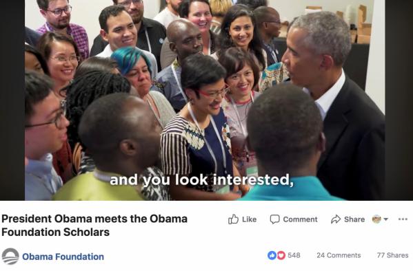 Học giả Obama gặp gỡ TT Obama