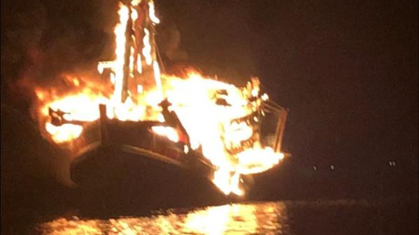 cháy tàu cá tại Kiên Giang