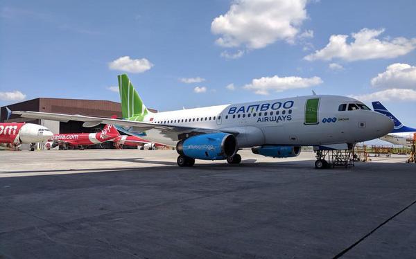 Hé lộ những hình ảnh đầu tiên của máy bay Bamboo Airways
