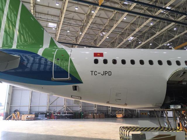 Hé lộ những hình ảnh đầu tiên của máy bay Bamboo Airways - Ảnh 2.