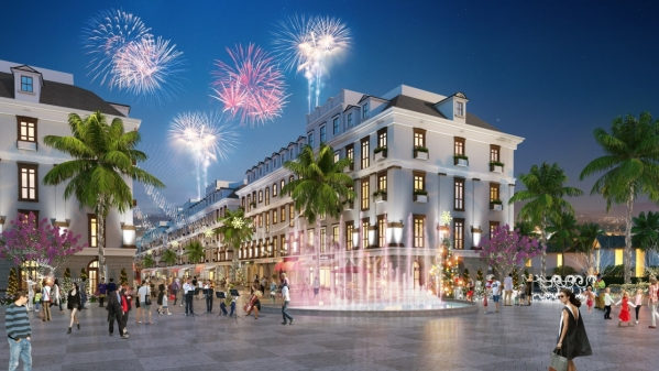 Phối cảnh khu shophouse Piperina trong dự án Sun Premier Village Kem Beach Resort ra mắt cuối năm 2017 (3)