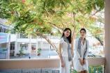 Hai người đẹp hoa hậu tên Dung rạng rỡ trên sân trường THPT