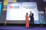 SHB được vinh danh là doanh nghiệp có môi trường làm việc tốt nhất Châu Á
