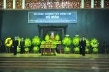 Lễ tang đồng chí Vũ Mão được tổ chức theo nghi thức Lễ tang cấp cao