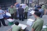 Hà Nội: Tạm giữ hơn 2,3 tấn bìa và ruột sách có dấu hiệu in lậu