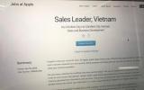 Apple tuyển giám đốc kinh doanh ở Việt Nam