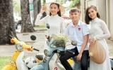 Hồ Văn Cường nhí nhảnh bên hai chị gái nuôi