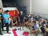 Bắt 42 con bạc đang say sưa sát phạt tại Nghệ An