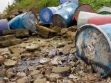 Xác định đối tượng mang 12 thùng phuy nghi chứa hóa chất ra sông Hồng