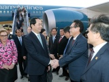 Chủ tịch nước Trần Đại Quang đến Peru, tham dự Tuần lễ Cấp cao APEC