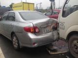 TPHCM: Ùn tắc kéo dài do tai nạn liên hoàn trên đường vào hầm Thủ Thiêm