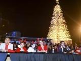 Sao Việt hội tụ ở lễ hội thắp sáng cây thông noel cao hơn 30m