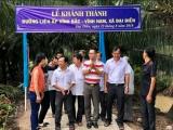 Bến Tre: Đưa vào hoạt động đường liên ấp do Tập đoàn Tân Hiệp Phát tài trợ