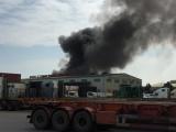 Hải Phòng: Cháy lớn ở kho chứa lốp ô tô tại KCN Đình Vũ