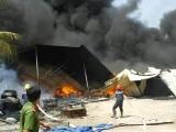 Cháy lớn tại công ty sản xuất nệm mút ở Bình Dương