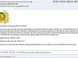 Xuất hiện mã độc tống tiền qua email giả mạo Bộ Công an