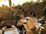 Quảng Trị: Tiêu hủy hơn 1 tấn sụn gà bốc mùi hôi thối