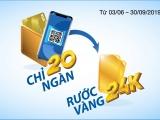 Cơ hội nhận vàng 24k khi thanh toán từ 20.000 vnd với thẻ Sacombank visa