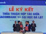 Sacombank ký hợp tác và trao 10 suất học bổng cho sinh viên Đại học Đà Lạt