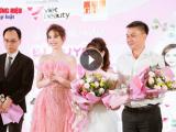 Ngọc Trinh chia sẻ 'bí kíp' tại lễ ra mắt sản phẩm mới của GHB Corporation