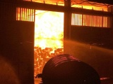 Hà Tĩnh: Kho gỗ quý 160 tấn cháy ngùn ngụt trong đêm