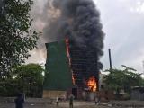 Nghệ An: Cháy lớn tại nhà máy luyện thiếc, 8 công nhân may mắn thoát nạn