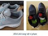 Thu giữ hàng trăm đôi giầy giả mạo nhãn hiệu CONVERSE, NIKE