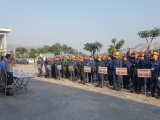 Công ty than Quang Hanh TKV phát động chiến dịch sản xuất, an toàn Quý IV