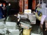 Quảng Ninh: Tiêu hủy hơn 1,3 tấn chả mực, quýt tươi nhập lậu