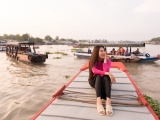 Á hậu Kim Duyên khám phá bến Ninh Kiều, ẩm thực chợ đêm ngày trở về thăm quê