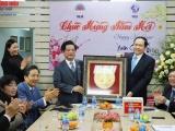 Chủ tịch MTTQ Việt Nam Trần Thanh Mẫn thăm và chúc Tết Hội Mỹ nghệ và Kim hoàn đá quý Việt Nam
