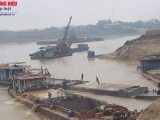 Công ty Thái Sơn E&C ngang nhiên khai thác cát ngoài mốc giới, bấp chấp sự phản đối của người dân?