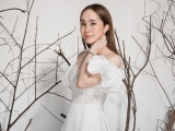 Sau khi giảm 3kg, Quỳnh Nga làm model cho NTK Hà Duy