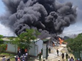 Thanh Hóa: Cháy lớn tại khu công nghiệp Tây Bắc Ga