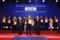 HVC Group được vinh danh top 10 nhà thầu cơ điện uy tín 2019