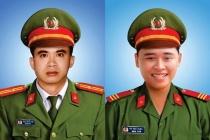 Thăng cấp bậc hàm cho 2 chiến sĩ công an hy sinh khi truy bắt tội phạm