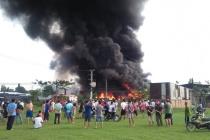 TP.HCM: Cháy lớn tại xưởng phế liệu ở huyện Bình Chánh