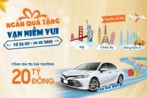 Trúng thưởng ô tô Toyota Camry cùng hàng ngàn quà tặng hấp dẫn từ Sacombank