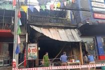 Hà Tĩnh: Cửa hàng thiết bị ô tô cháy lớn, 2 ông cháu tử vong