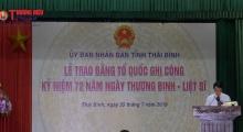 Thái Bình: Trao Bằng Tổ quốc ghi công cho 19 thân nhân liệt sĩ