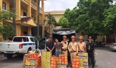 Bắc Giang: Bắt lái xe vận chuyển gần 300kg pháo lậu