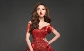 Mỹ Huyền công bố đầm dạ hội trước chung kết Miss International Globe