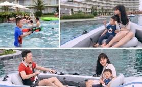 """Nghỉ dài ngày, nhiều gia đình đưa bé đi """"đón hè sớm"""" ở những thiên đường nắng ấm"""