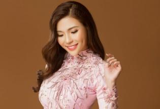 Thúy Diễm rạng ngời, khoe dáng cuốn hút sau sinh trong tà áo dài Minh Châu